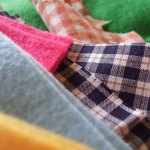 felt & gingham cotton
