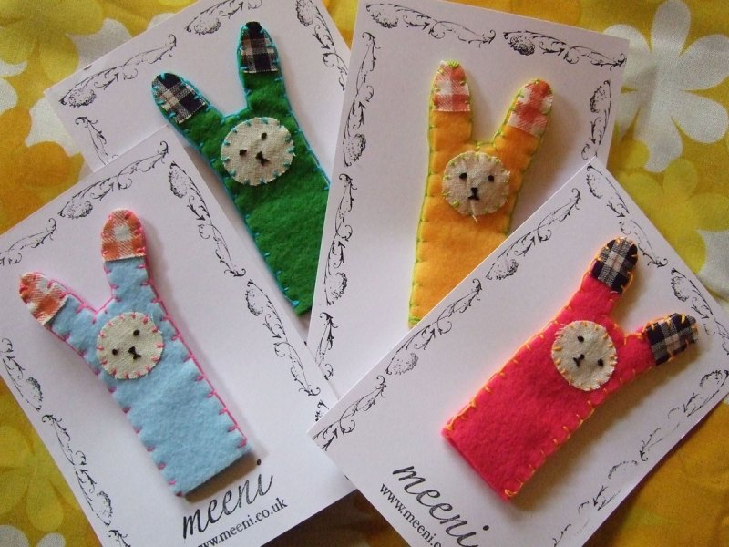 rabbit finger puppets