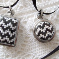 cross stitch pendants
