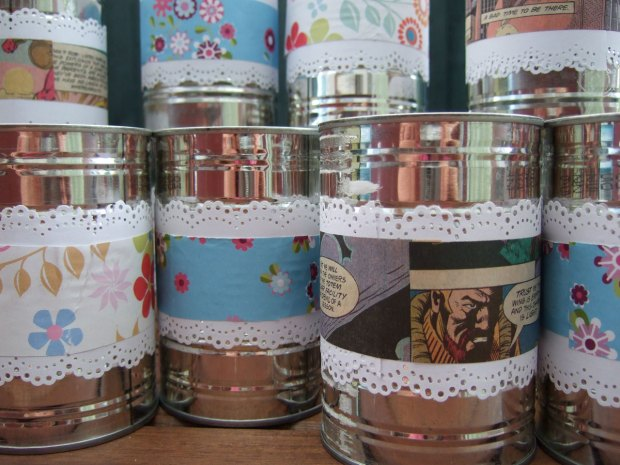 tin can vases