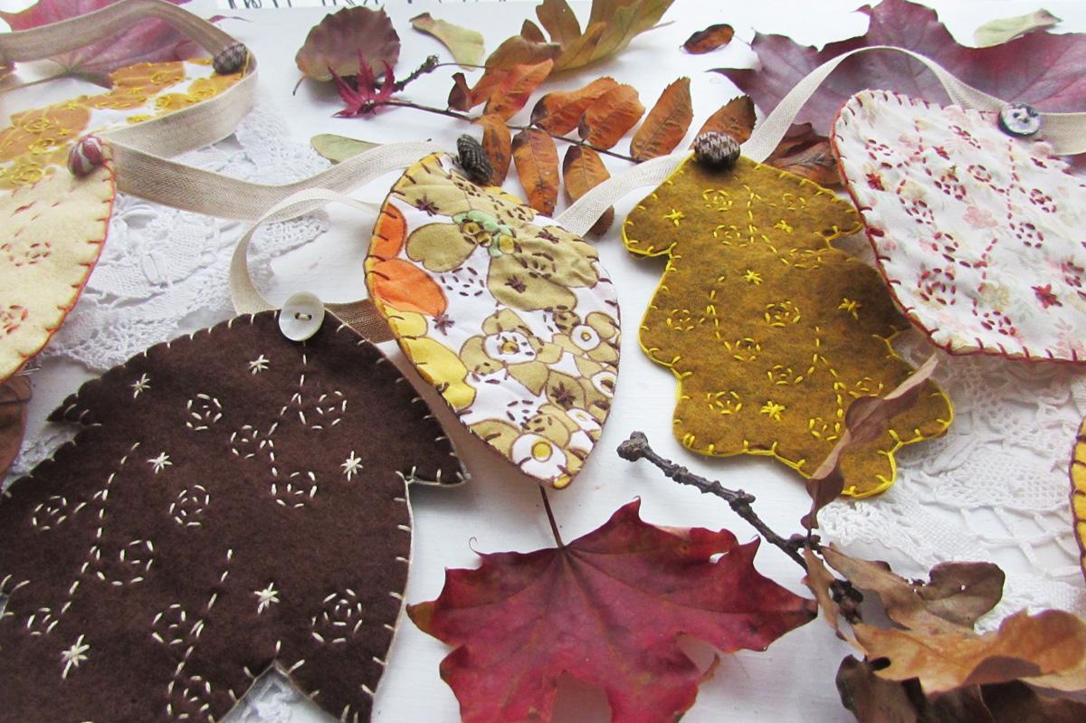 autumn leaf bunting