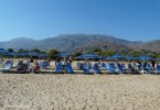The impressive mountain backdrop at the beach near Georgioupolis Crete