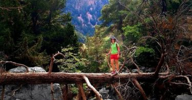 Hiking through the Samaria Gorge