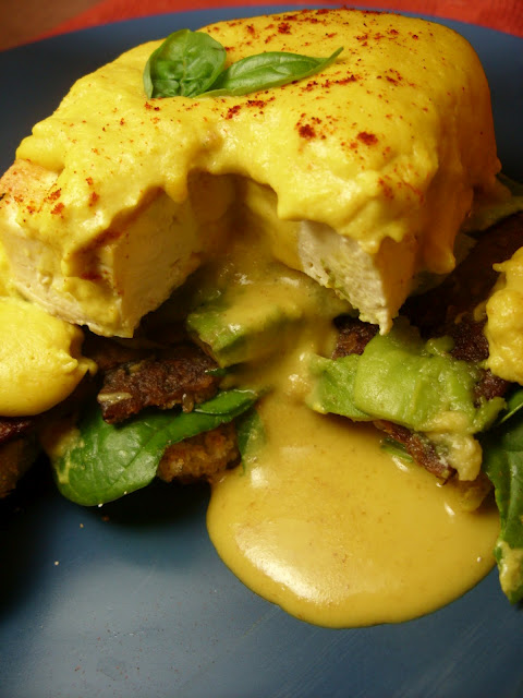Tofu Eggs Benedict featuring The Vegan Poached Egg
