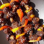 The Betty Crocker Project : Sesame Teriyaki Beef-less Skewers
