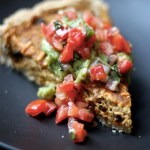 Soyrizo & Black Bean Quiche with Cornmeal Crust