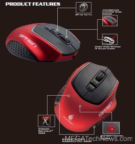MEGATech Reviews   Cooler Master Spawn Gaming Mouse   ProductPic1 468x500