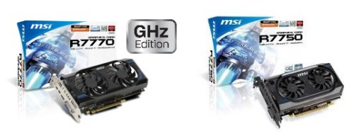 MSI Reveals HD 7700 Series Dual Fan Graphic Cards   MSI 7700 Series 500x192