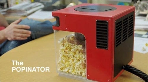 The Popinator Launches Popcorn Into Your Mouth via Voice Command   popinator