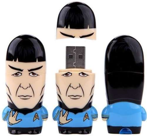 MEGATech Showcase: Its Time For More Flash Drives   Amazon.com 16GB Mr. Spock MIMOBOT USB Flash Drive MAIN 500x464