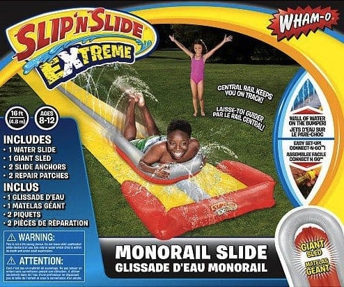 Double Your Summer Fun With Wham O and Blast Zone   monorail water slide
