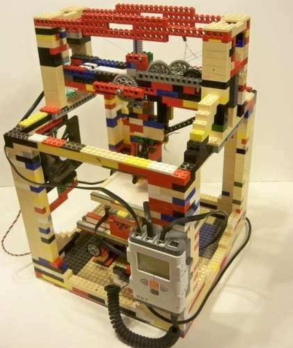 MEGATech Showcase: Dog Days of LEGO   Legobot LEGO 3D Printer 421x500