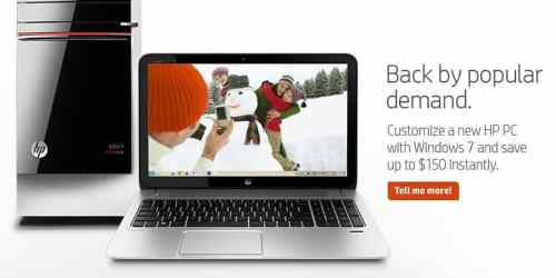 HP Selling New PCs with Windows 7 Again   hp pc 500x250