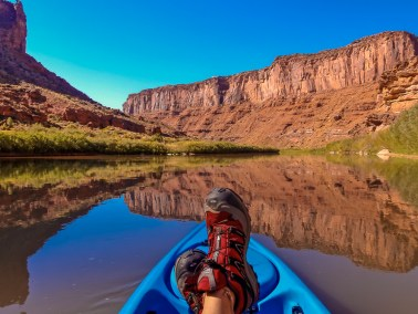 Kayaking the Colorado River in Moab, UT
