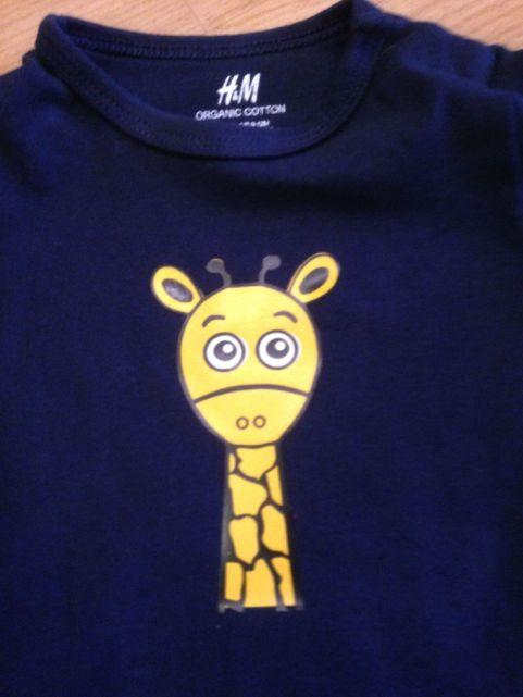 Tom die Giraffe Plotterbild 2