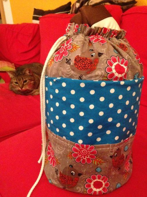 der fertige Beutel mit Katze :-)