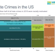 Hate Crimes Based on Race, Religion and Sexual Orientation in 2015 in a Marimekko Chart