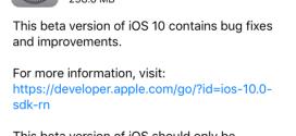 Apple rilascia iOS 10 beta 5 agli sviluppatori [link download]