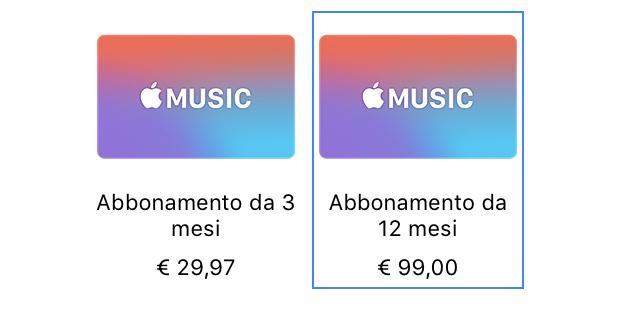 Le gift card Apple Music arrivano in Italia, abbonamento a 8,25€ mensili