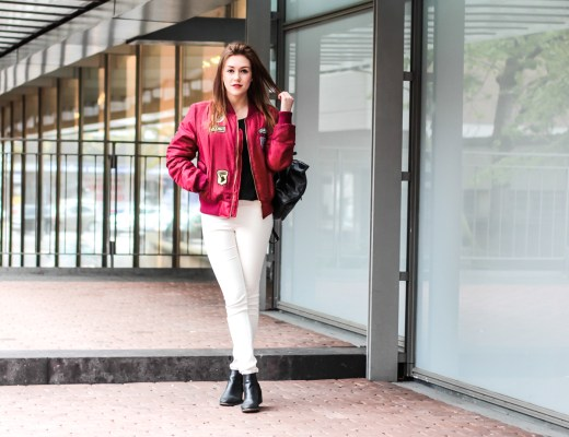 Mein perfekter Streetstyle mit Trend Patches Bomberjacke