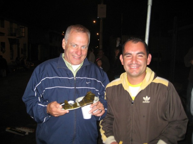 Friends we have made.  Tony (my husband) and I met Giovanni at a festival behind our apartment building.