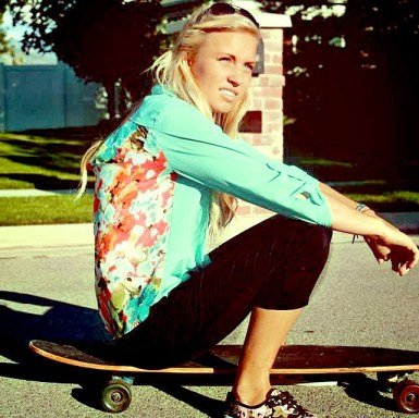 Lexi on long board