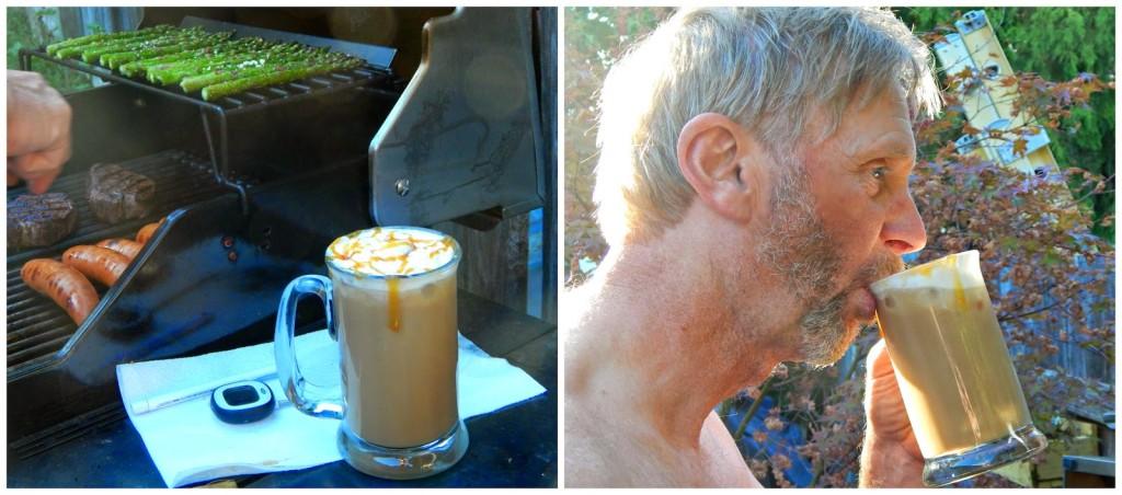 recipe for almond butterscotch iced coffee #silkalmondblends #c