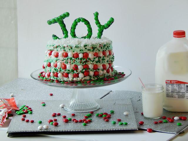 White peppermint ice cream cake recipe #bakeinthefun AD