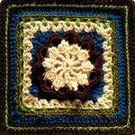 Crochet Hermit Block Square