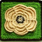 Crochet Petals of Spring Square
