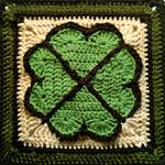 Crochet Shamrock Square