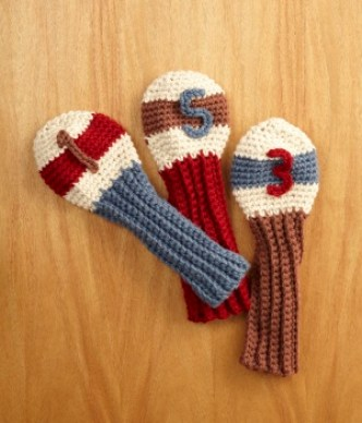 Crochet Gifts for Men - Golf Club Covers
