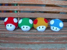 Crochet Gifts for Men - Mario Mushrooms