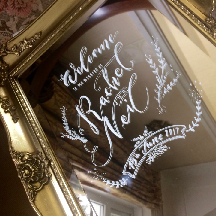 Hand Lettered Mirrors by Mellor and Rose