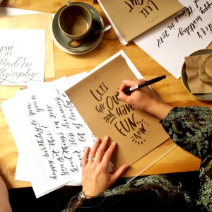 Learn Brush Lettering at a Mellor and Rose Lettering Workshop - Lancashire, Yorkshire & Merseyside (Lytham, Blackpool, Preston, Lancaster, Southport, Liverpool, Manchester, Harrogate and Mawdesley)