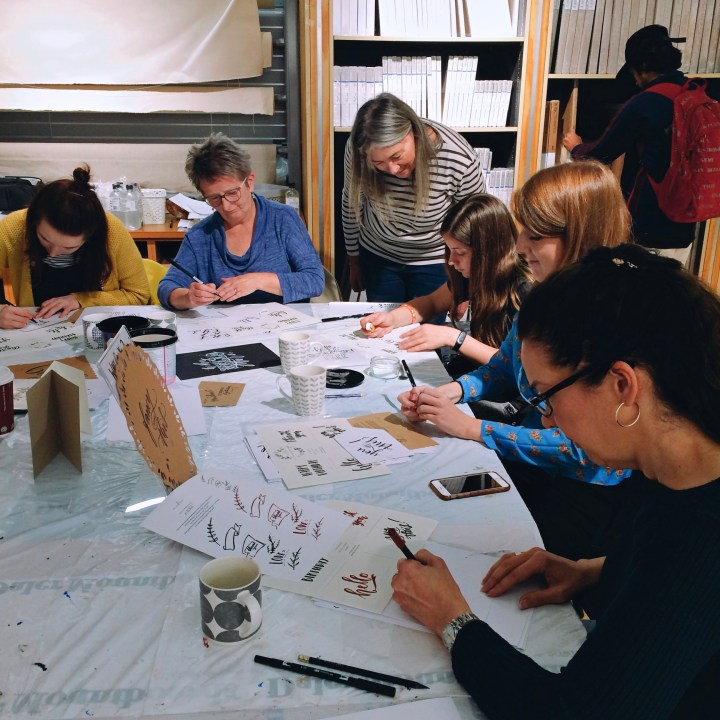 Brush Lettering workshop with Mellor and Rose in Lancashire, Yorkshire and Merseyside