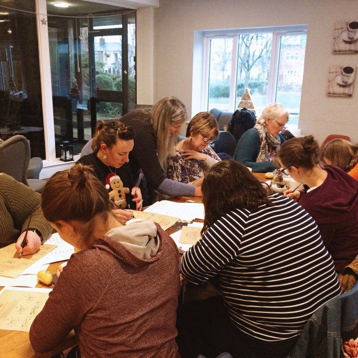 Beginners Modern Calligraphy workshop: Society1, Preston (Mellor and Rose)