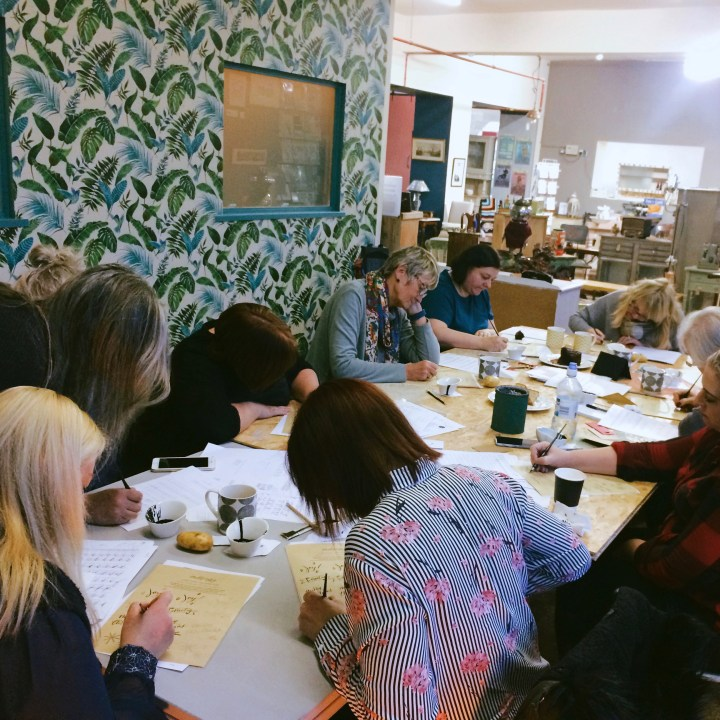 Beginners Modern Calligraphy workshop: Vintage Home, Southport (Mellor and Rose)