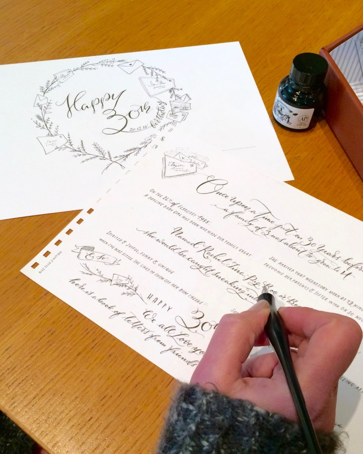 Personalised Hand Lettered Calligraphy Gift Tags, Name Tags and Envelopes by Mellor and Rose in Lancashire (Calligraphy Writing Service)