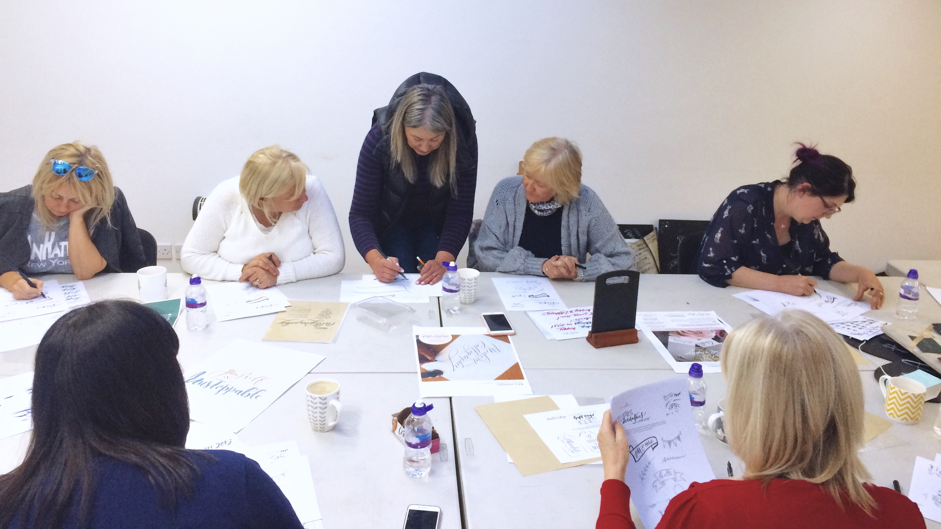Modern Wedding Calligraphy workshop at CASS Art Liverpool with Mellor and Rose