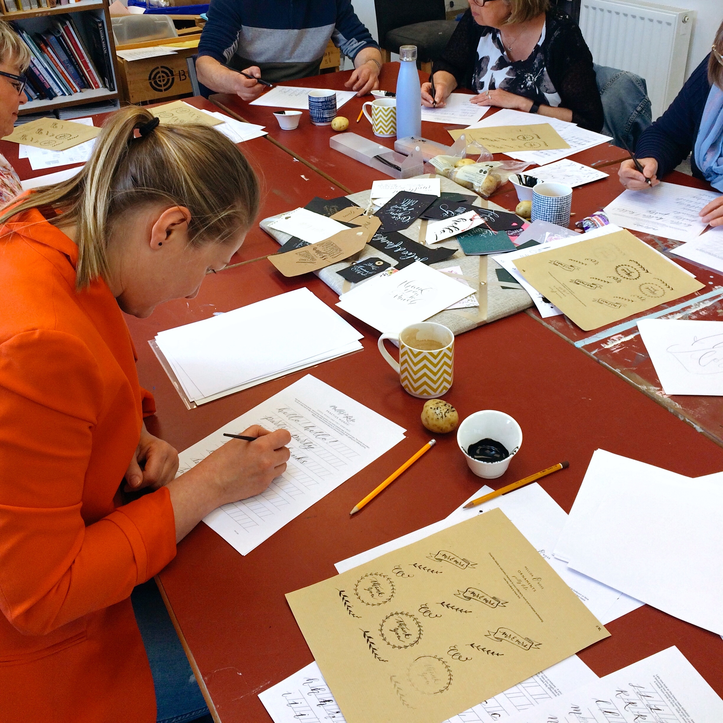 Warton Hall in Lytham St Annes in Lancashire as part of National Garden Scheme // Modern Calligraphy workshops with Mellor&Rose