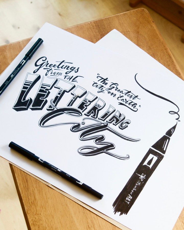 Introductory Tombow Brush Lettering/ Calligraphy workshop with Mellor and Rose: CASS Art, Liverpool  (Lytham, Preston, Blackpool, Southport, Lancaster, Liverpool, Manchester, Harrogate, Mawdesley)