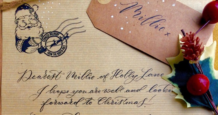 Calligraphy Santa Letter with Mellor & Rose