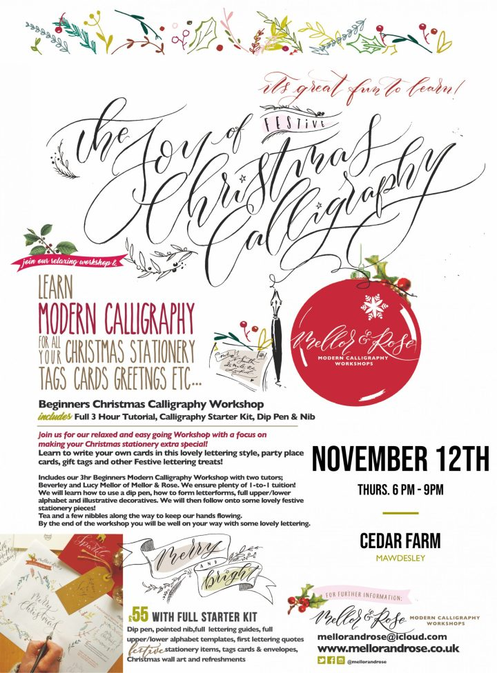 Christmas Calligraphy in Mawdesley November