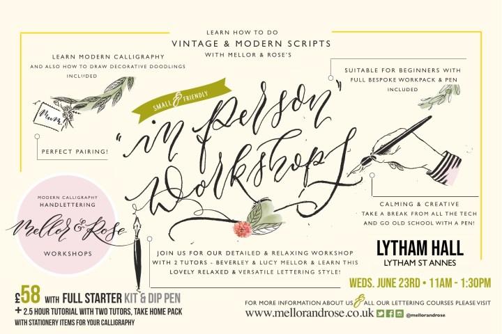 Calligraphy at Lytham Hall
