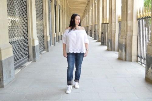Blog mode melolimparfaite blouse blanche mango dentelle pied