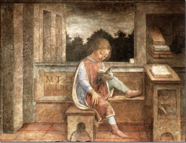Le jeune Cicéron lisant