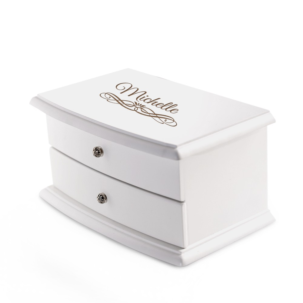Irresistible Personalized 2 Compartment Jewelry Box Red Lining 12070 Li Personalized Jewelry Box Little Girl Personalized Jewelry Box Philippines wedding jewelry Personalized Jewelry Box