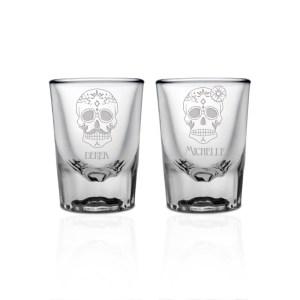Best Couples 10705 Li Personalized Shot Glasses Birthday Personalized Shot Glasses No Minimum Order Personalized Sugar Skull Shot Glass Set
