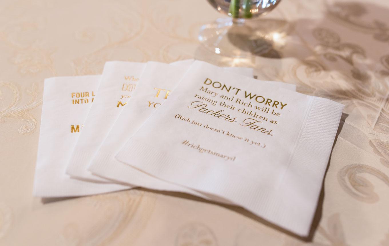 napkins napkins for wedding Personalized Napkins